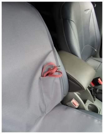 Накидка переднее сиденье с карманом (серая)