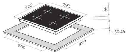 Встраиваемая варочная панель индукционная MAUNFELD EVI.594-WH White