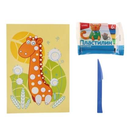 Картина из пластилина Жирафик