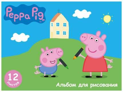 Альбом для рисования Росмэн «Свинка Пеппа», 12 листов, А4 на скрепке