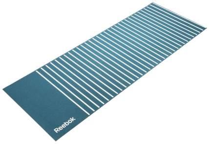 Коврик для йоги Reebok Полоски RAYG-11030GN синий с белым 4 мм