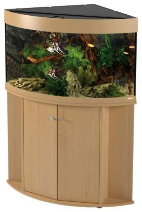 Аквариум для рыб Ferplast Dubai Corner 90, с изогнутым стеклом, бук, 180 л
