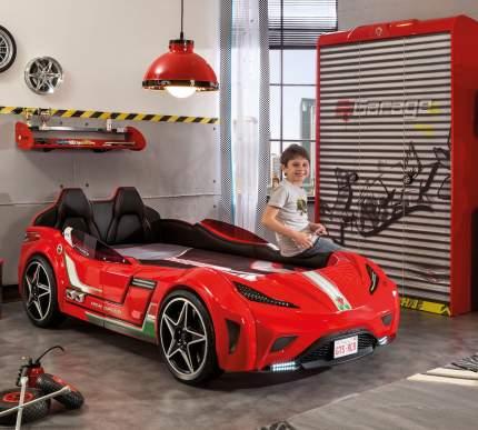 Кровать-машина Cilek Carbed GTS красная 100х190