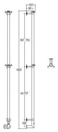 Металлический полотенцесушитель Margaroli 616CRB-1650