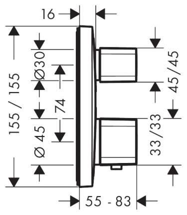 Смеситель для встраиваемой системы Hansgrohe 15707000