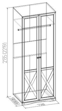 Платяной шкаф Глазов мебель GLZ_T0012157 156,5х59х213,5, дуб сонома