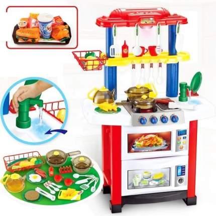 Детская кухня двусторонняя с водой Happy Little Sheff 33 предмета 2 в 1 768А