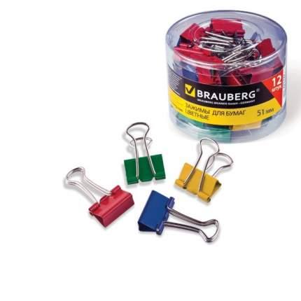 Зажимы для бумаг Brauberg 221131 12 штук
