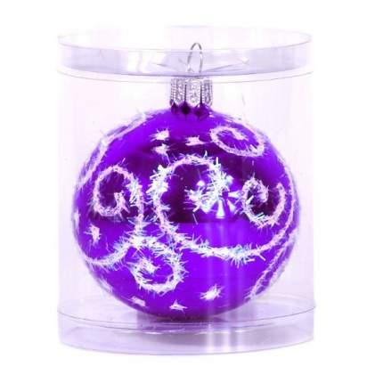 Шар на ель Новый год 6 см С 35-фиолет
