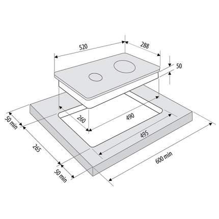 Встраиваемая индукционная панель Krona VENTO 30 BL