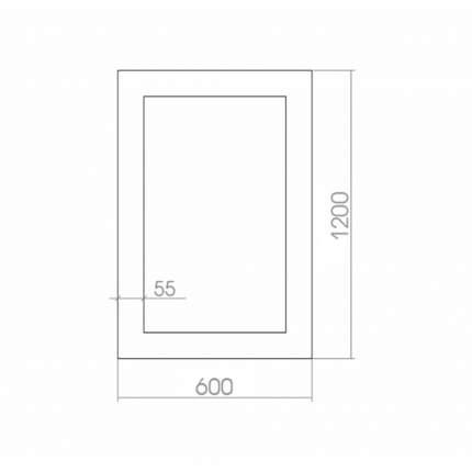 Зеркало MIXLINE Глянец Белый 600х1200
