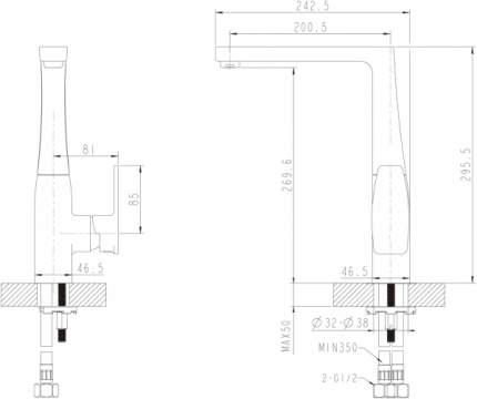 Смеситель для кухонной мойки BRAVAT F772106C