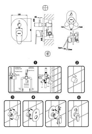 Смеситель для встраиваемой системы BRAVAT FB848238CP-2-RUS