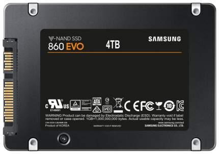 Внутренний SSD накопитель Samsung 860 EVO 4TB (MZ-76E4T0BW)