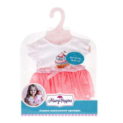 MARY POPPINS Одежда для куклы 38-43 см, футболка и юбочка Пирожное 452153