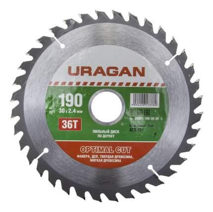 Пильный диск по дереву  Uragan 36801-190-30-36