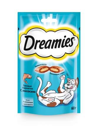 Лакомство Dreamies для взрослых кошек с лососем, 60г