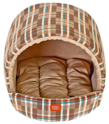 Домик для собак Happy Puppy арка коричневый, бежевый