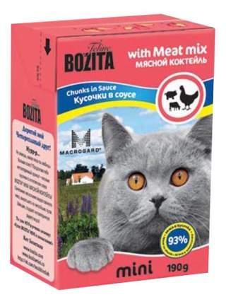 Влажный корм для кошек BOZITA Mini, курица, говядина, свинина, 190г