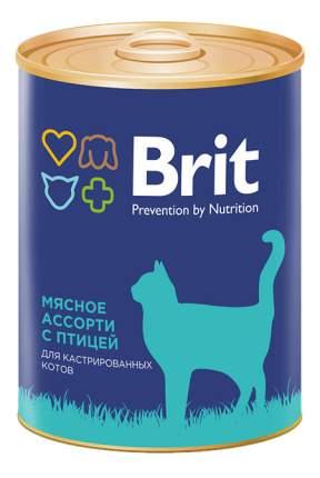 Консервы для кошек Brit Prevention by Nutrition, мясное ассорти с птицей, 12шт, 340г