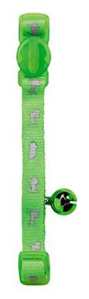 Ошейник для кошек HUNTER Neon нейлон, зеленый, 20-32 см