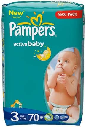 Подгузники Pampers Active Baby 3 (4-9 кг), 70 шт.