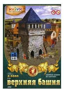 Аппликация из картона Умная бумага Верхняя башня