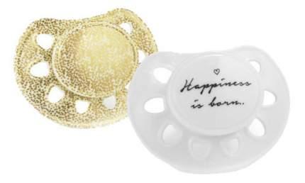 Силиконовая пустышка ортодонтическая Elodie Details Happiness Is Born 2 шт.
