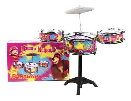 Барабан игрушечный Маша и Медведь Детский барабан