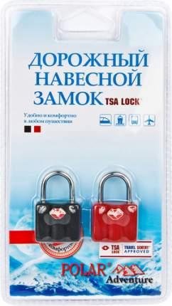 Замок для багажа навесной с ключами Polar красный и черный 2 шт. 800506