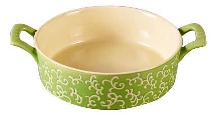 Форма для запекания круглая, 30х23х7 см, зеленая