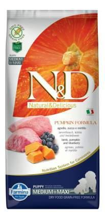 Сухой корм для щенков Farmina N&D Puppy Medium & Maxi, ягненок, черника и тыква, 12кг