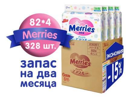 Подгузники Merries Мегапак S (4-8 кг), 82x4 шт.