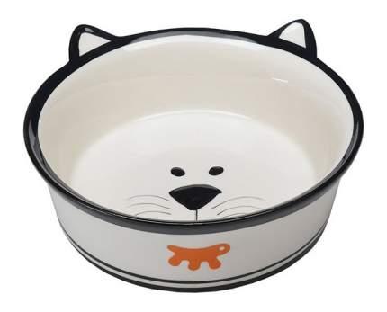Одинарная миска для кошек Ferplast, керамика, белый, 0.3 л