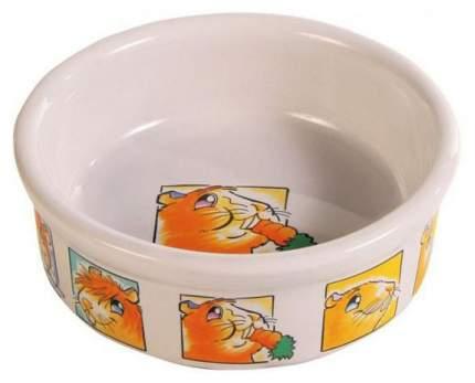 Одинарная миска для грызунов TRIXIE, керамика, белый, 0.24 л