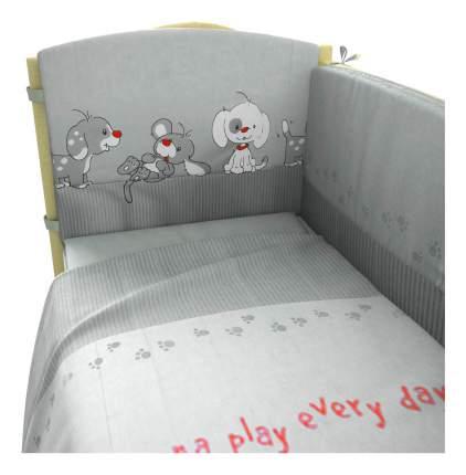 Комплект детского постельного белья Фея Веселая игра 6 предметов серый