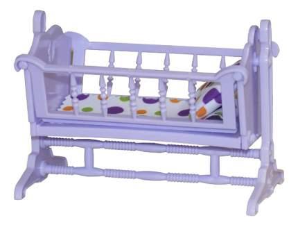 Кроватка для куклы Огонек Конфетти