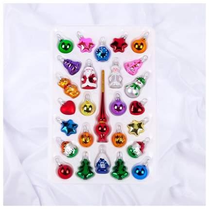 Набор елочных игрушек Елочка Детский разноцветный C745