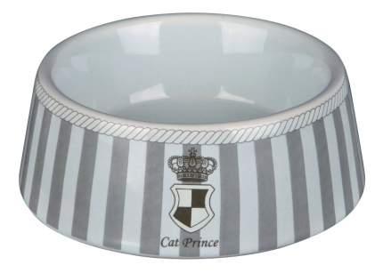 Одинарная миска для кошек TRIXIE, керамика, серый, 0.18 л
