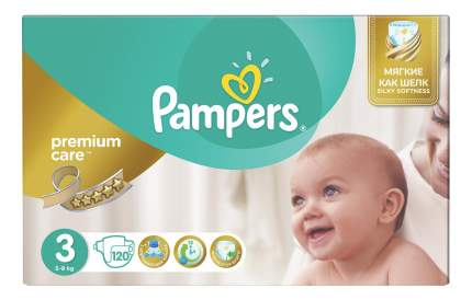 Подгузники Pampers Premium Care 3 midi 5-9 кг 120 шт.
