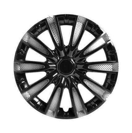 Колпаки колесные AIRLINE 14 дюймов Торнадо серебристо-черные, карбон