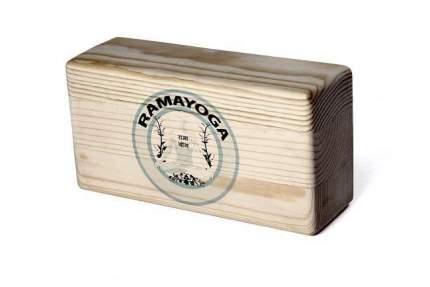 Кирпич для йоги RamaYoga из сосны шлифованный с логотипом 692724