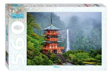 Пазл Step Puzzle Пагода у водопада 560 элементов