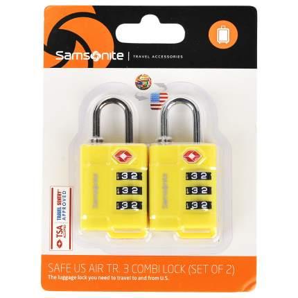 Замок для багажа кодовый Samsonite желтый U2306117