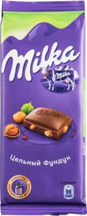Шоколад молочный Milka с цельным фундуком 90 г