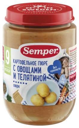 Пюре овощное Semper Картофельное пюре с овощами и телятиной с 9 мес 190 г