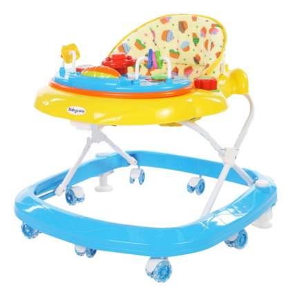 Ходунки детские Baby Care Sonic GL-6000S2 желтый/синий