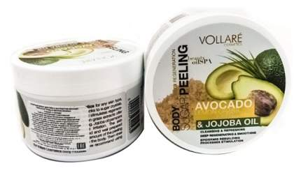 Сахарный пилинг для тела Vollare с экстрактом авокадо лимонной травы и маслом жожоба 225 г