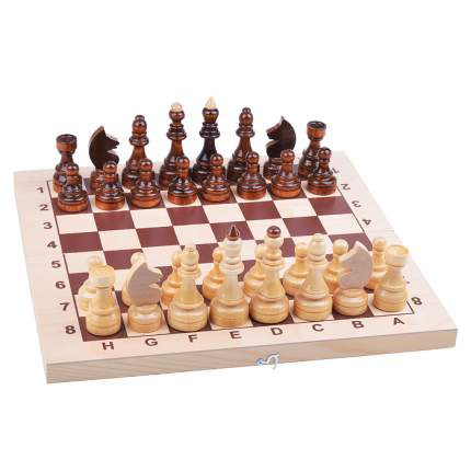 Шахматы гроссмейстерские в комплекте с доской Рыжий кот ИН-7522