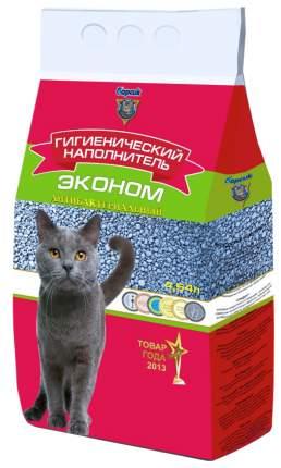 Впитывающий наполнитель для кошек Барсик Эконом глиняный, 3.1 кг, 4.54 л, 3 шт